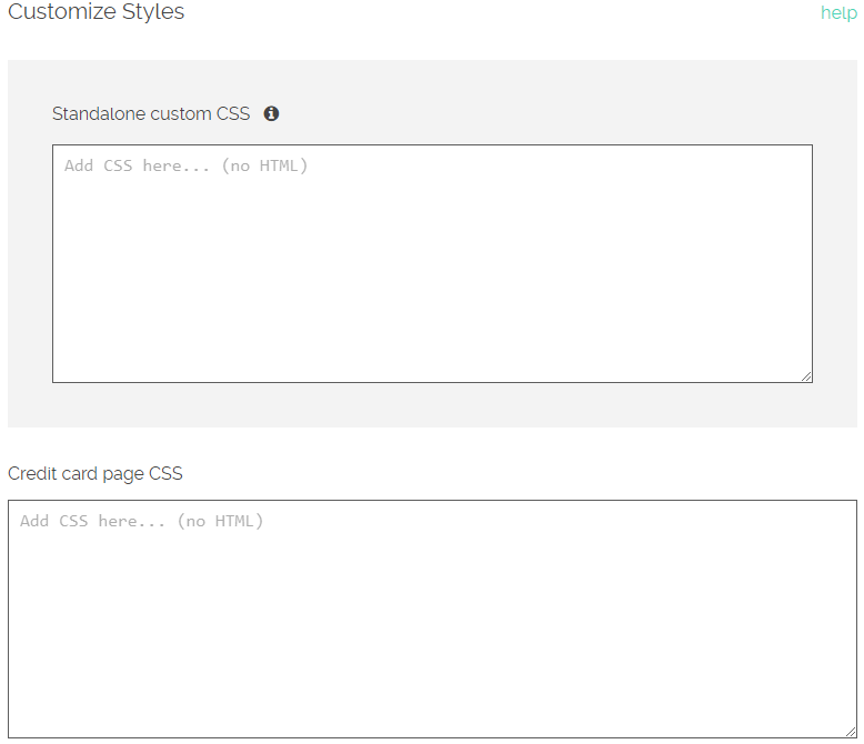 Customizing CSS styles on ReCharge and checkout – ReCharge