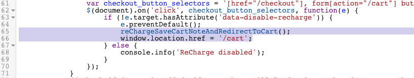 Redirect to checkout from AJAX cart – ReCharge